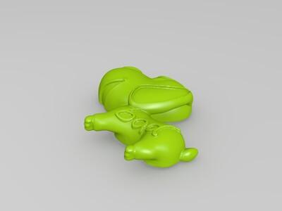 小狗吊坠-3d打印模型