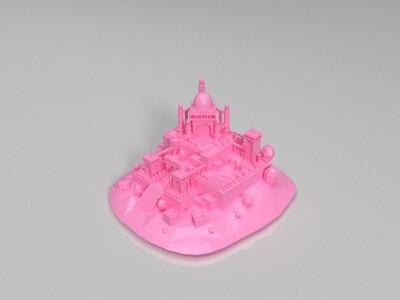 castle-on-hills-3d打印模型
