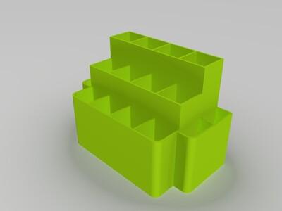 实用工具架(16小格,满足螺丝刀各种工具摆放)-3d打印模型