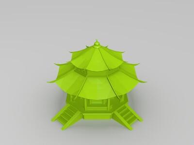 八角亭-3d打印模型