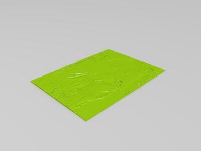 浮雕创意灯-3d打印模型
