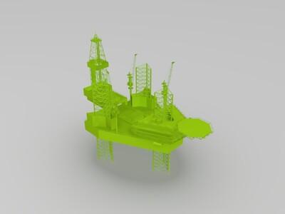 自升式钻井平台-3d打印模型