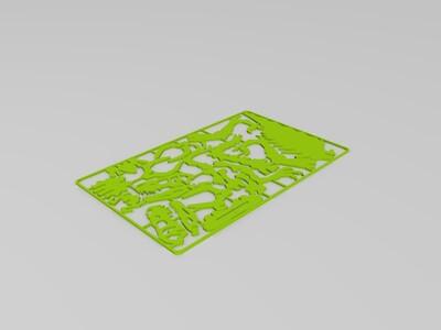 拼插恐龙骨架-3d打印模型