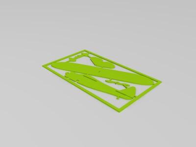 拼插小飞机-3d打印模型