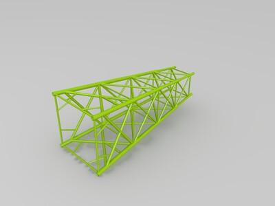 导管架(无平台)-3d打印模型