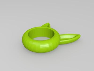 兔耳 戒指 餐巾套-3d打印模型