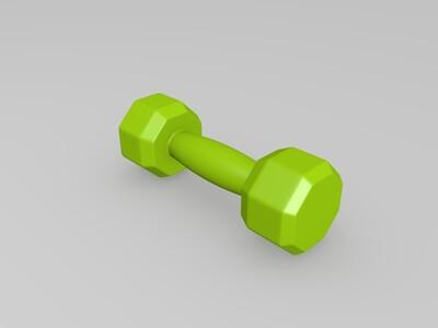 哑铃-3d打印模型