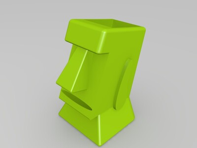MOAI石像盆栽-3d打印模型