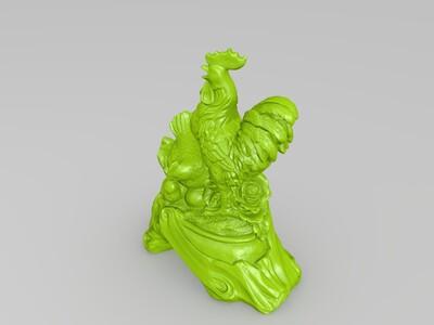 金鸡报晓 全家福 合家欢 大吉大利-3d打印模型