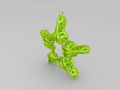 霸王龙吊坠-3d打印模型