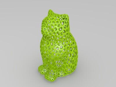 镂空猫咪-3d打印模型