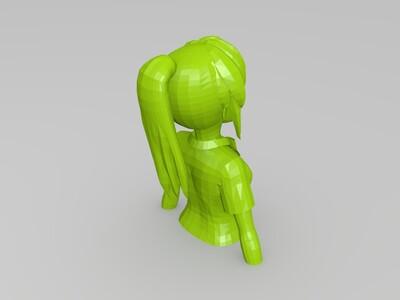 [MMD]宫水三叶 - 你的名字-3d打印模型