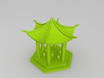 凉亭-3d打印模型