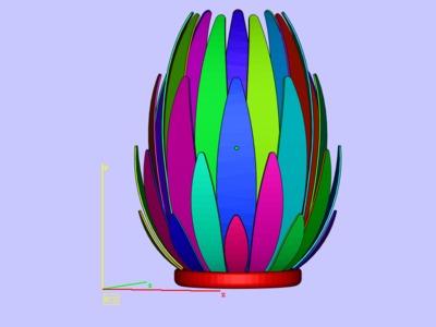 百合灯罩-3d打印模型