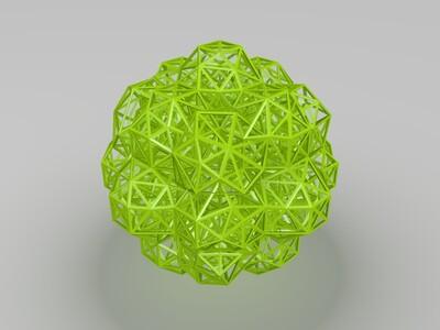 艺术多边镂空球-3d打印模型
