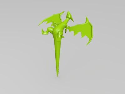 口袋妖怪-喷火龙-3d打印模型