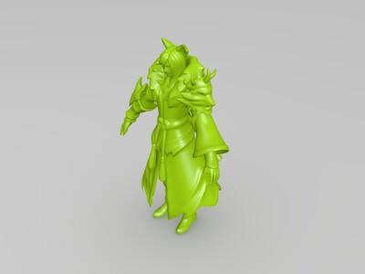 王者荣耀——李白(千年之狐)-3d打印模型