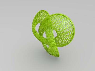 艺术镂空环-3d打印模型