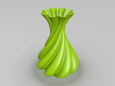 旋转艺术花瓶-3d打印模型