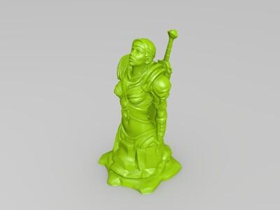 女侠客-3d打印模型