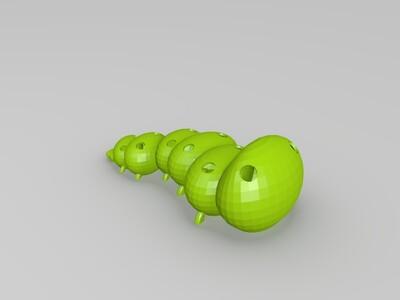 毛毛虫花盆-3d打印模型