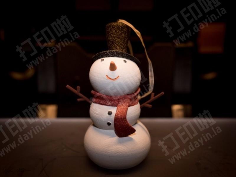 圣诞雪人先生-3d打印模型