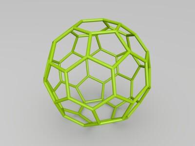 足球烯-3d打印模型