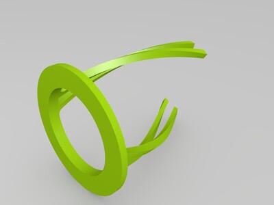 扭曲笔筒架-3d打印模型