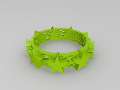 镂空星星戒指-3d打印模型