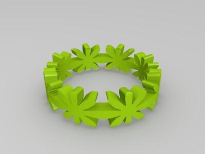 花纹戒指-3d打印模型