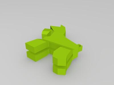 雪纳瑞钥匙挂链-3d打印模型
