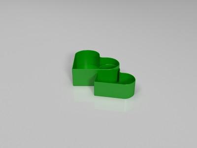 双心花盆-3d打印模型
