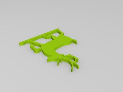 麋鹿窗贴-3d打印模型