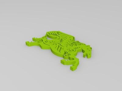 剪纸(马)-3d打印模型