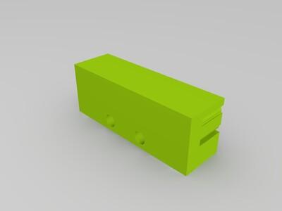 用于2GT 6 皮带固定安装-3d打印模型