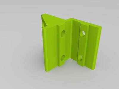 欧标2020型材平面板安装支架-3d打印模型