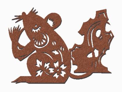 剪纸(鼠)-3d打印模型