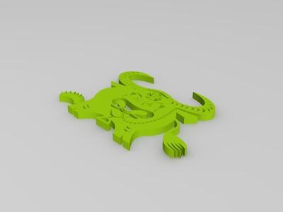 剪纸(牛)-3d打印模型