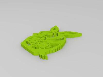 剪纸(兔)-3d打印模型