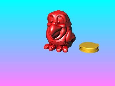 紅鸚鵡-灯笼存钱罐-3d打印模型