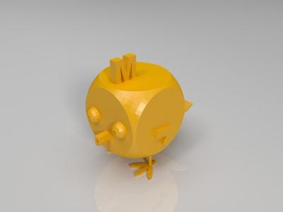 几何 方块鸡-3d打印模型