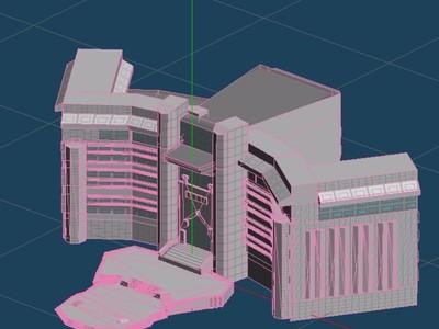 首都图书馆-3d打印模型