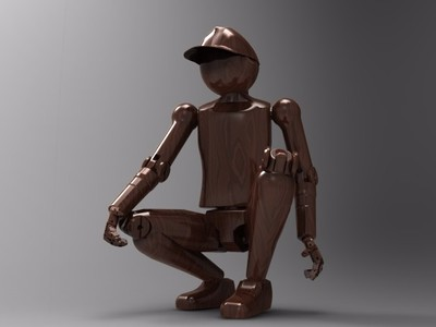 打印后可自由活动关节的仿真人-3d打印模型