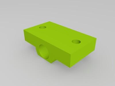 卧式8MM光轴固定座(削顶)-3d打印模型