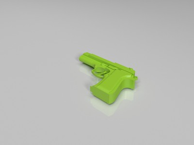 沙漠之鹰手枪-3d打印模型