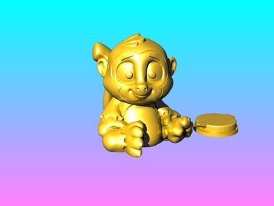 泼猴-灯笼存钱罐-3d打印模型