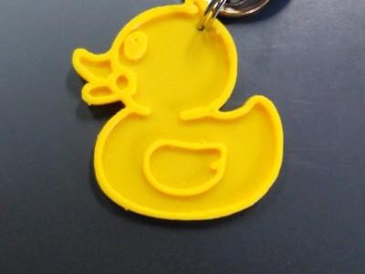 小黄鸭钥匙扣-3d打印模型