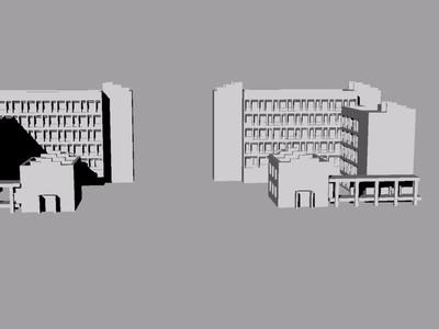 南阳职业学院教学楼-3d打印模型