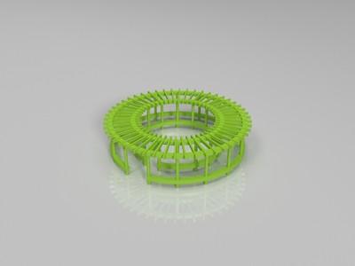 圆形廊架-3d打印模型