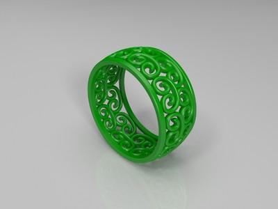 图案戒指-3d打印模型